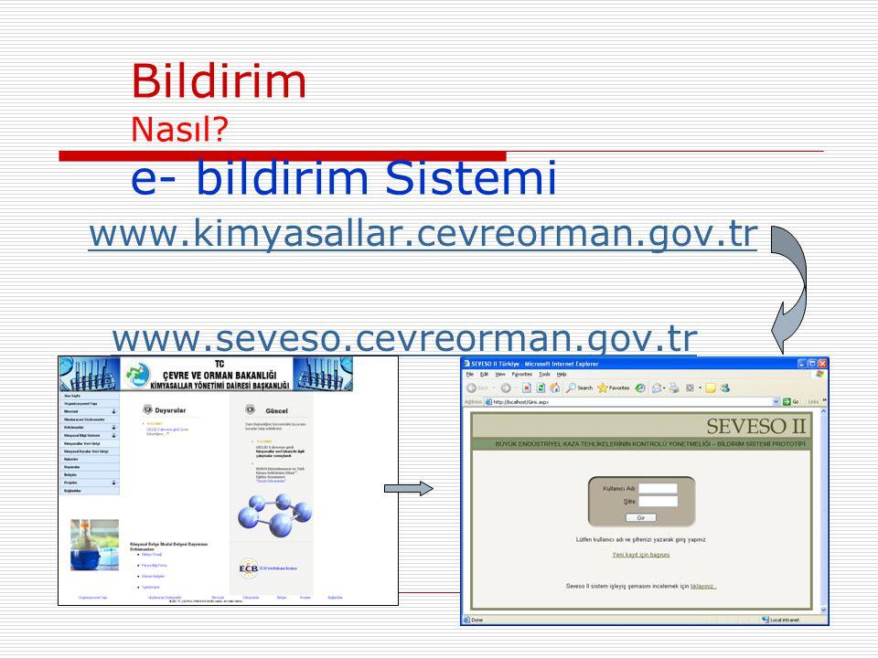 Bildirim Nasıl e- bildirim Sistemi