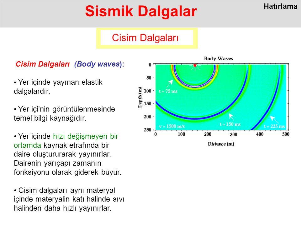 Cisim Dalgaları (Body waves):