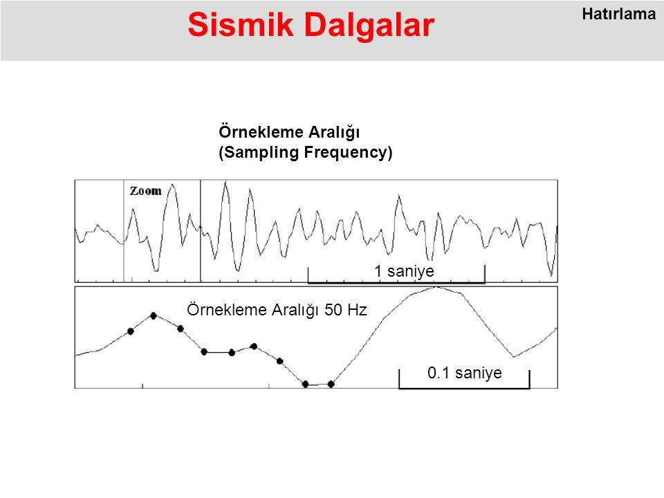 Sismik Dalgalar Hatırlama Örnekleme Aralığı (Sampling Frequency)