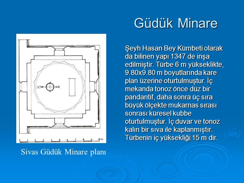 Güdük Minare Sivas Güdük Minare planı
