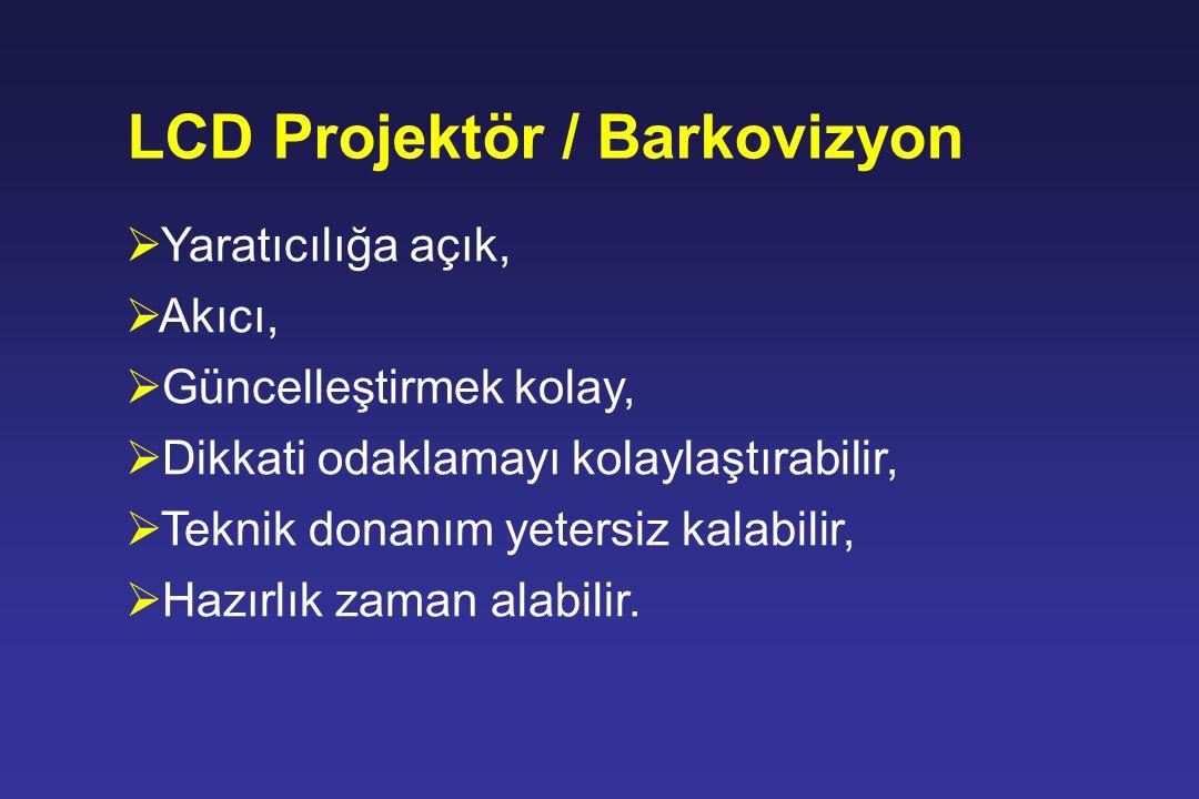 LCD Projektör / Barkovizyon