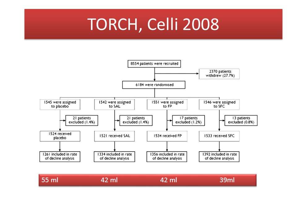 TORCH, Celli 2008 55 ml 42 ml 42 ml 39ml