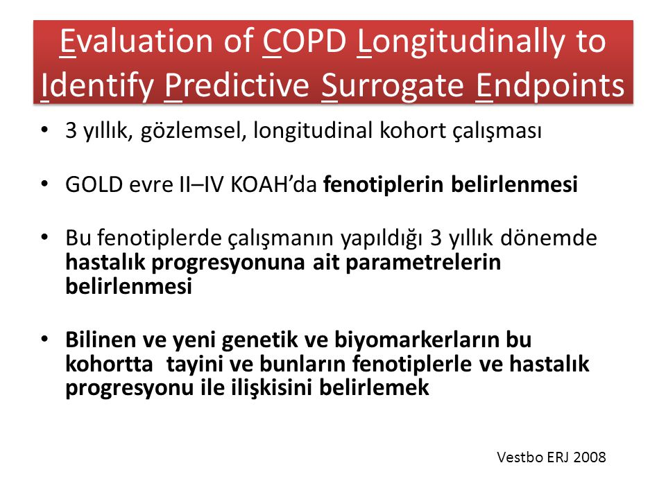 Evaluation of COPD Longitudinally to Identify Predictive Surrogate Endpoints