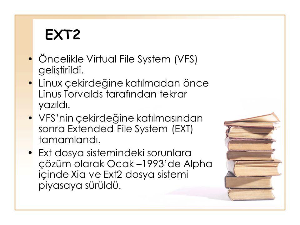 EXT2 Öncelikle Virtual File System (VFS) geliştirildi.