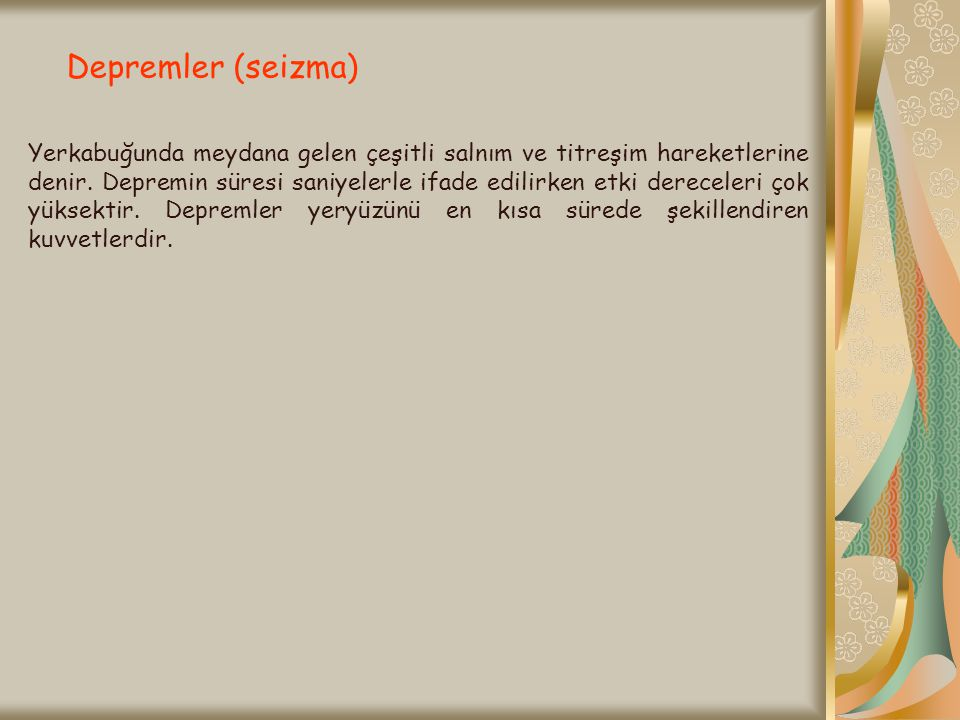 Depremler (seizma)