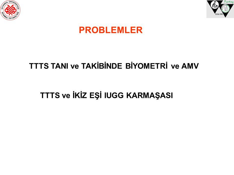 PROBLEMLER TTTS TANI ve TAKİBİNDE BİYOMETRİ ve AMV