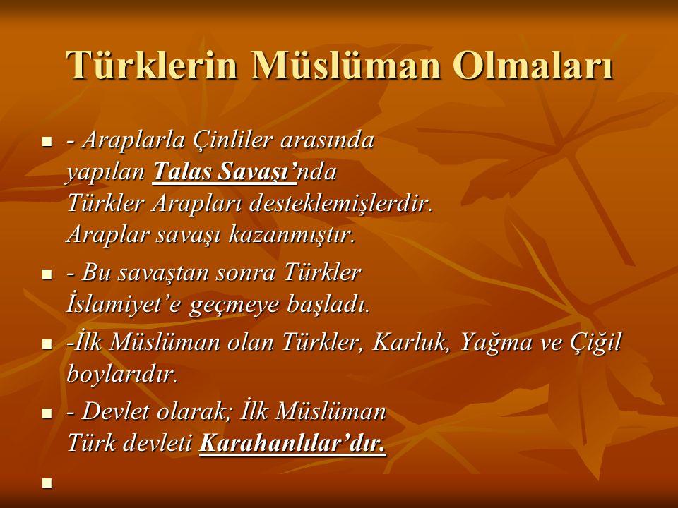 Türklerin Müslüman Olmaları
