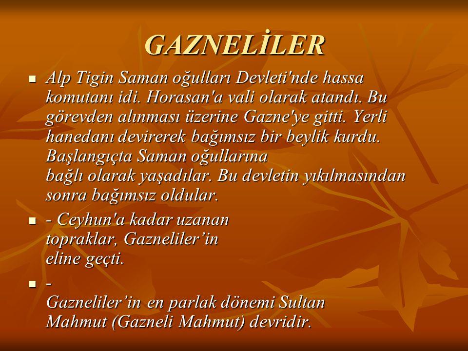 GAZNELİLER