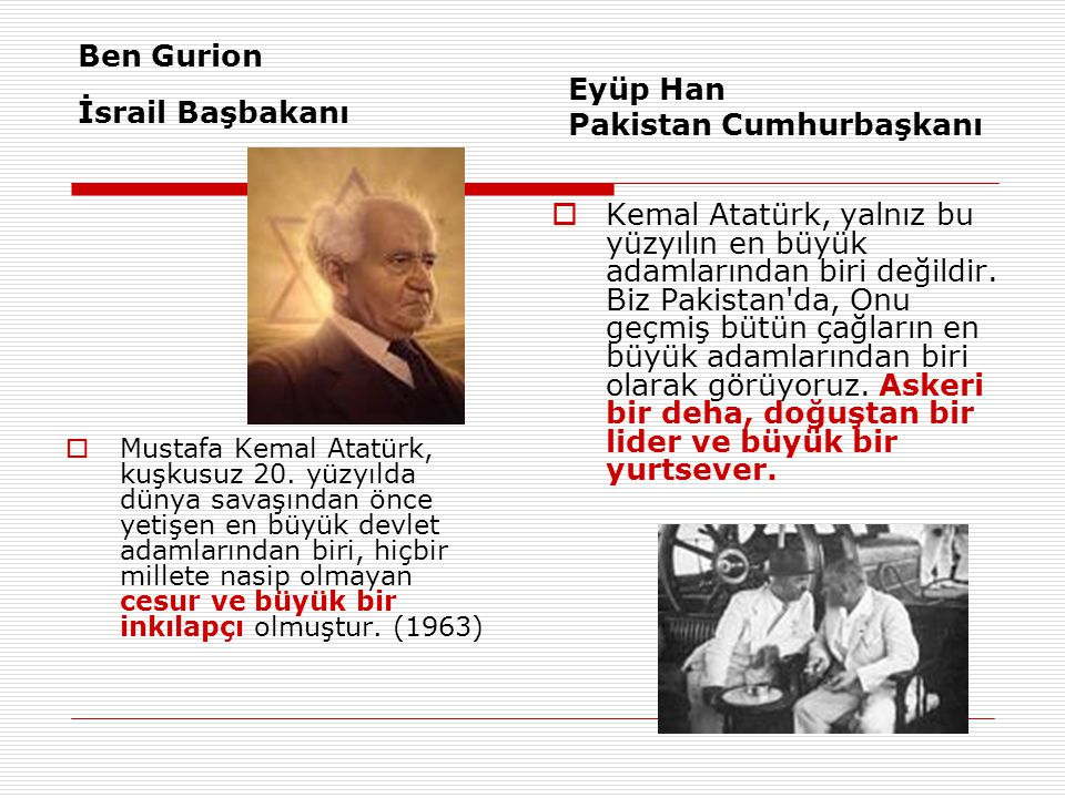 Ben Gurion İsrail Başbakanı