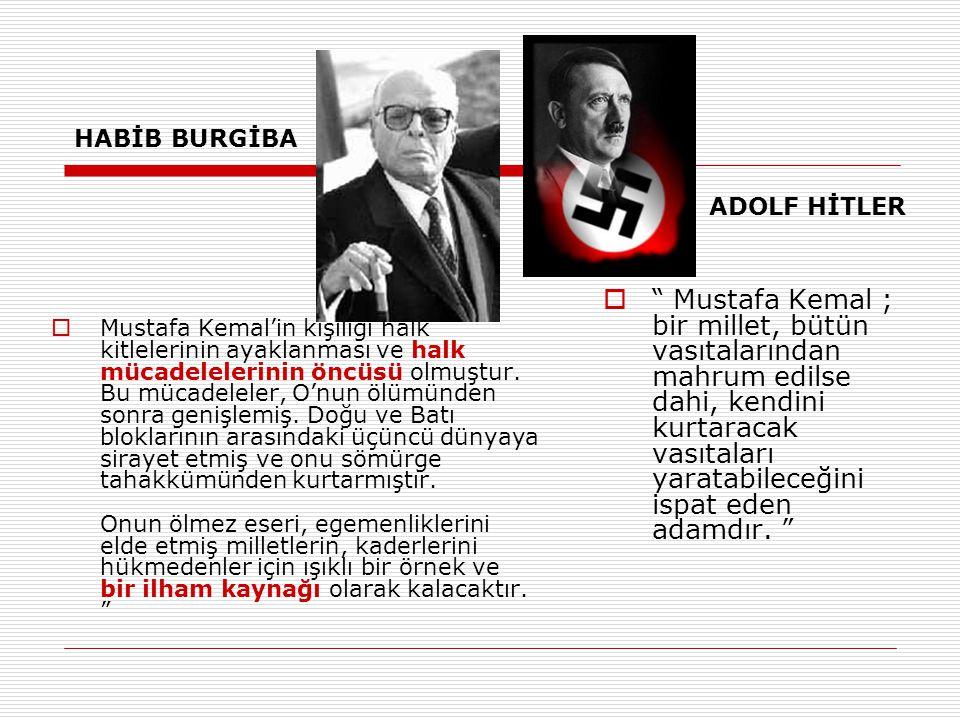 HABİB BURGİBA ADOLF HİTLER.