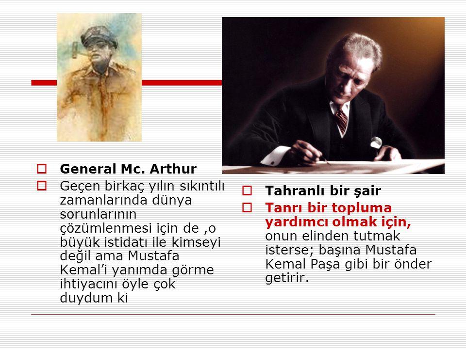 General Mc. Arthur