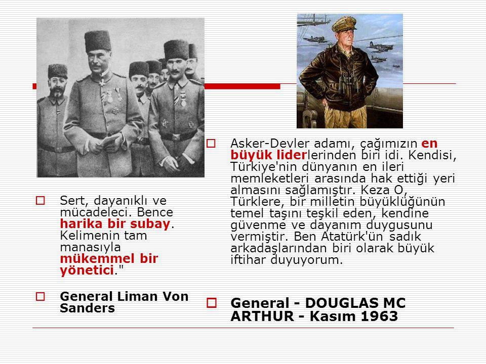 General - DOUGLAS MC ARTHUR - Kasım 1963