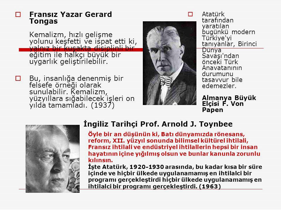 İngiliz Tarihçi Prof. Arnold J. Toynbee
