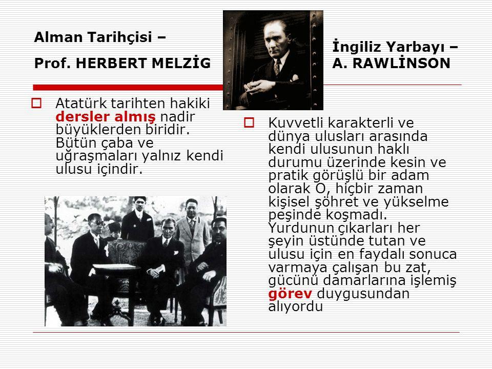 Alman Tarihçisi – Prof. HERBERT MELZİG
