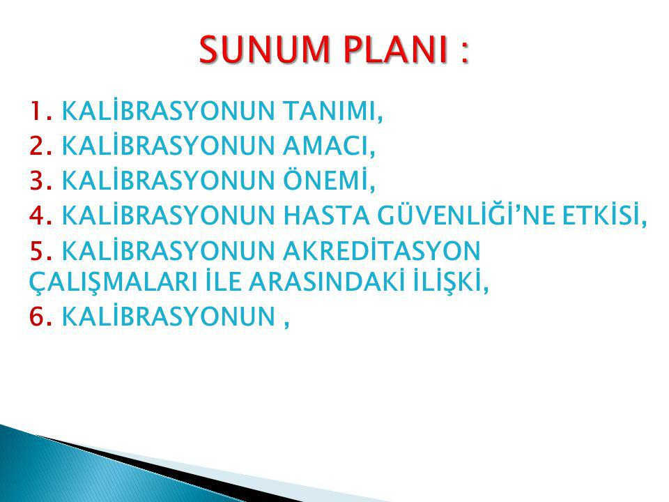 SUNUM PLANI :