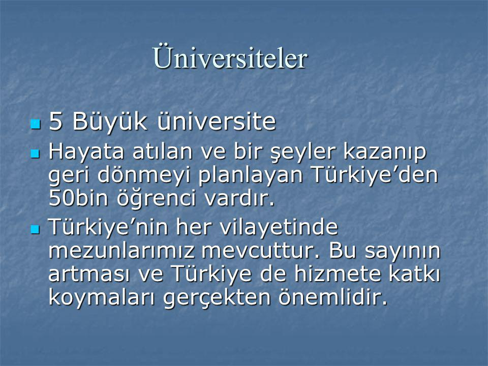 Üniversiteler 5 Büyük üniversite