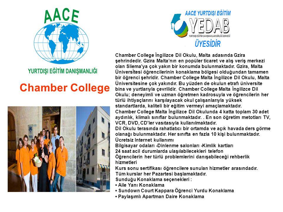 Chamber College İngilizce Dil Okulu, Malta adasında Gzira şehrindedir
