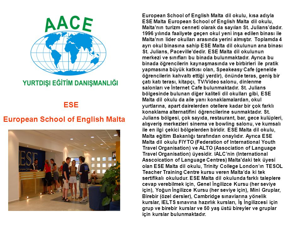 European School of English Malta