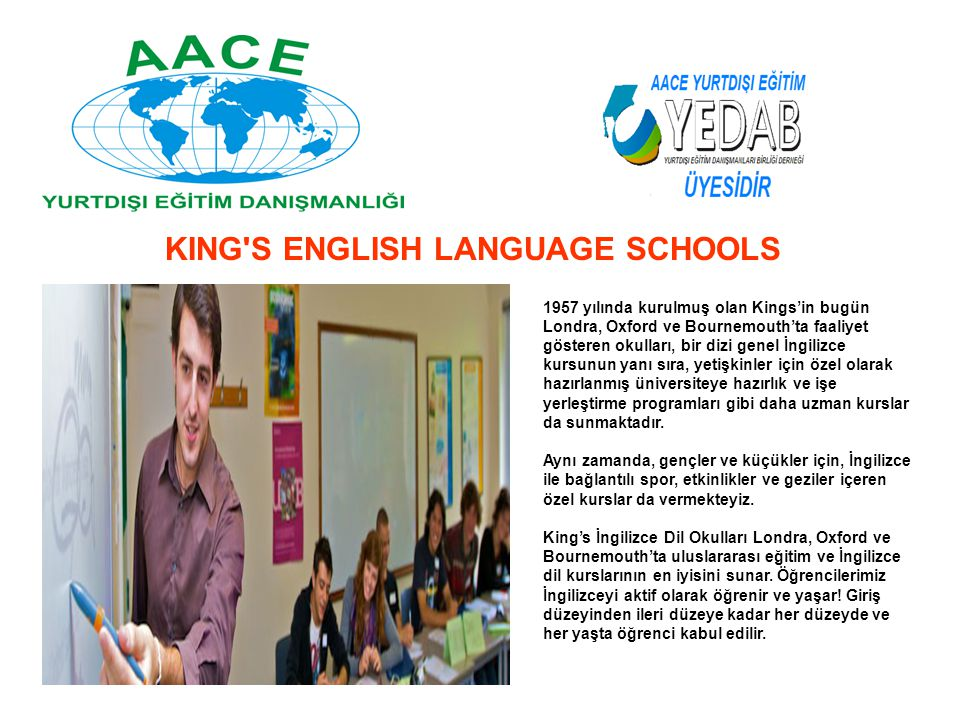 KING S ENGLISH LANGUAGE SCHOOLS