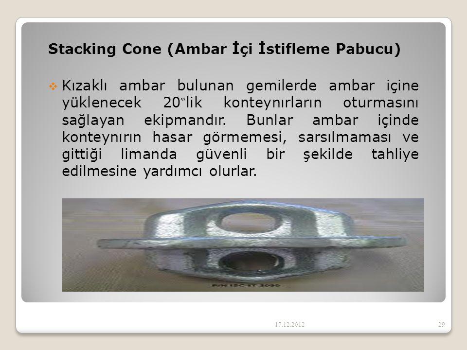 Stacking Cone (Ambar İçi İstifleme Pabucu)