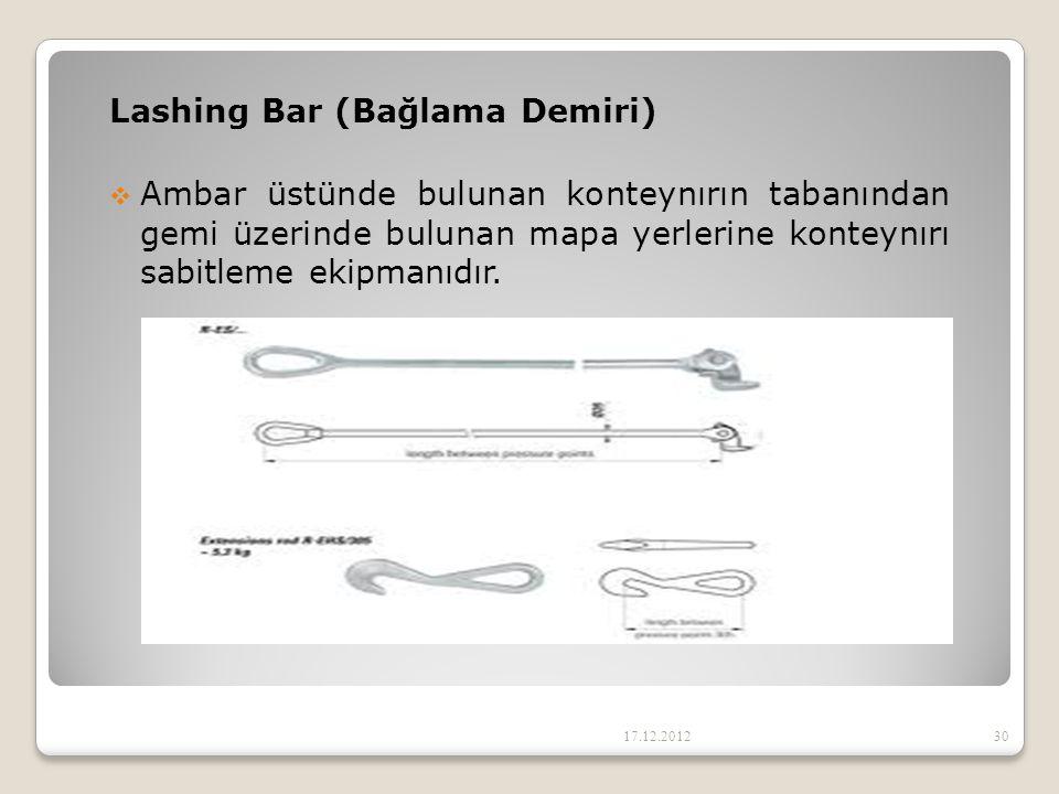 Lashing Bar (Bağlama Demiri)