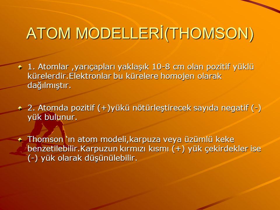 ATOM MODELLERİ(THOMSON)