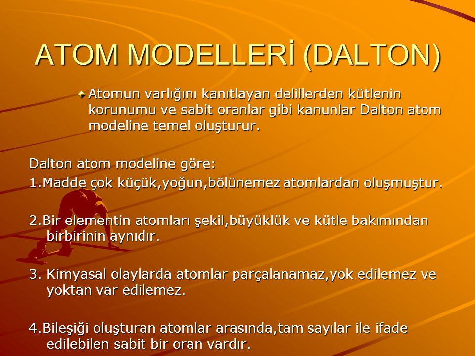 ATOM MODELLERİ (DALTON)