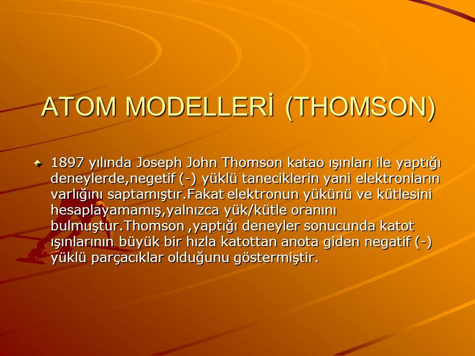 ATOM MODELLERİ (THOMSON)