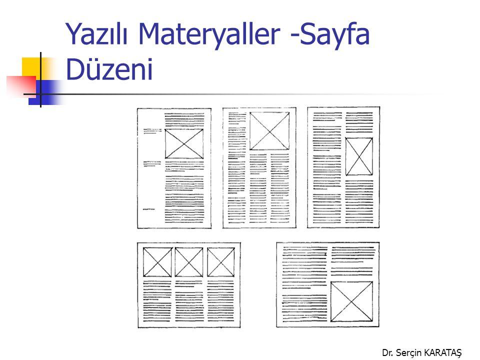 Yazılı Materyaller -Sayfa Düzeni