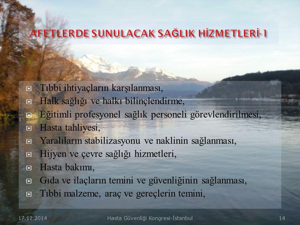 AFETLERDE SUNULACAK SAĞLIK HİZMETLERİ-1