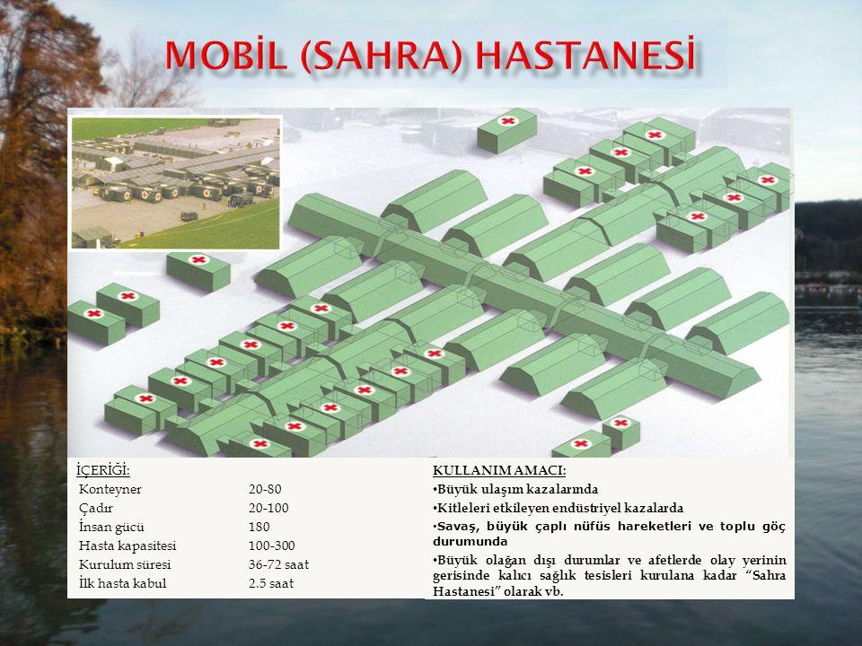 MOBİL (SAHRA) HASTANESİ