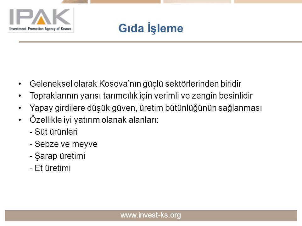 Gıda İşleme Geleneksel olarak Kosova'nın güçlü sektörlerinden biridir