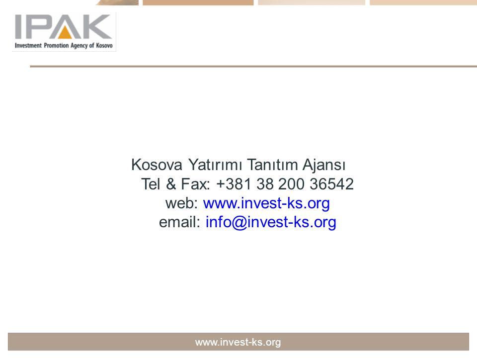 Kosova Yatırımı Tanıtım Ajansı Tel & Fax: +381 38 200 36542 web: www