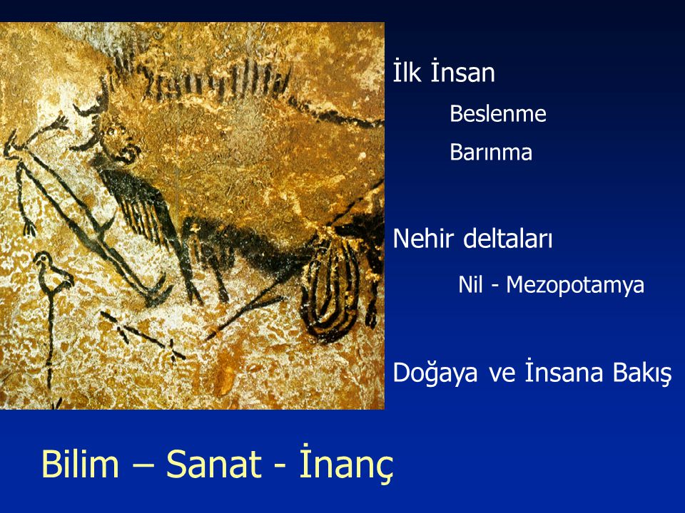 Bilim – Sanat - İnanç İlk İnsan Nehir deltaları Nil - Mezopotamya