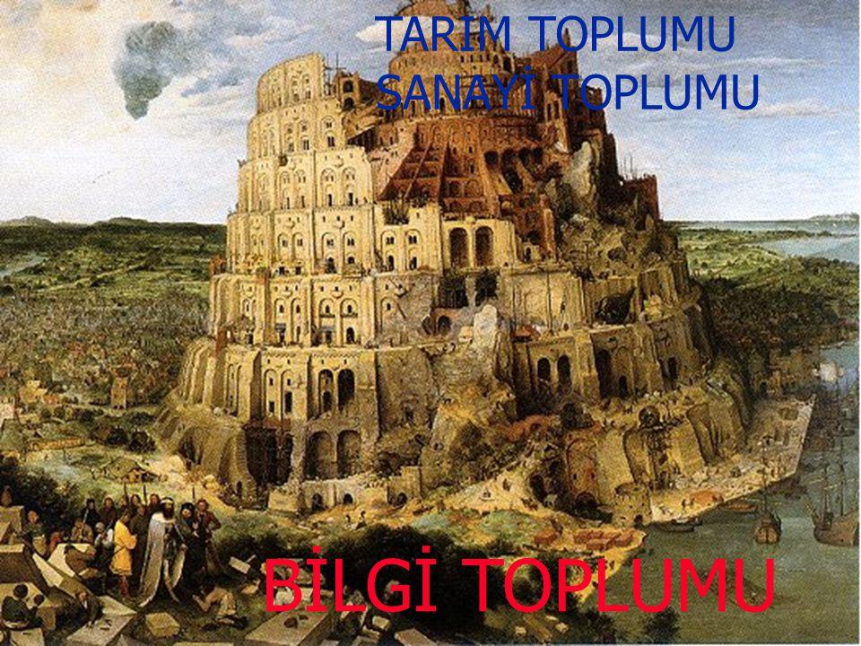 TARIM TOPLUMU SANAYİ TOPLUMU BİLGİ TOPLUMU