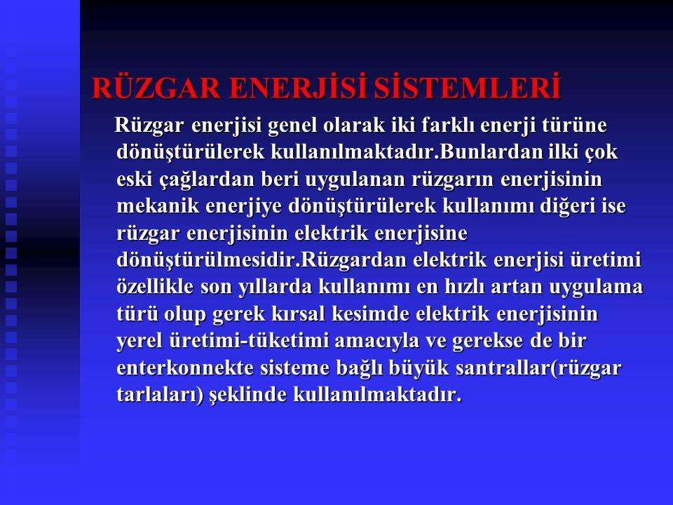 RÜZGAR ENERJİSİ SİSTEMLERİ