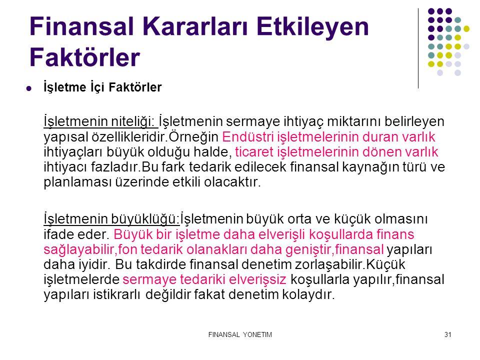 Finansal Kararları Etkileyen Faktörler