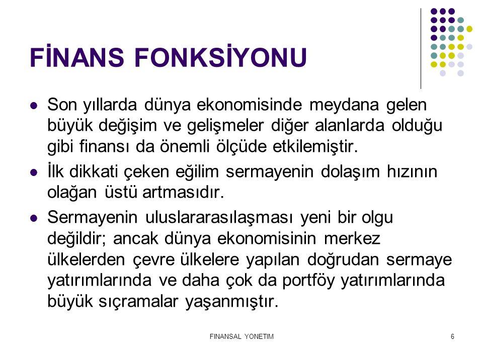 FİNANS FONKSİYONU