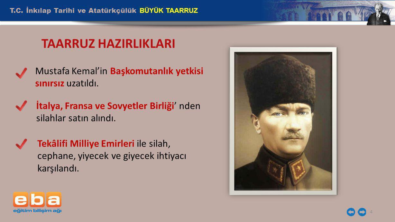 TAARRUZ HAZIRLIKLARI T.C. İnkılap Tarihi ve Atatürkçülük BÜYÜK TAARRUZ