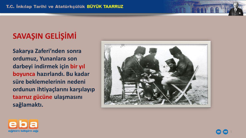 SAVAŞIN GELİŞİMİ T.C. İnkılap Tarihi ve Atatürkçülük BÜYÜK TAARRUZ