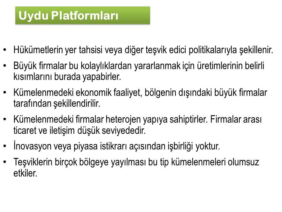 Uydu Platformları Hükümetlerin yer tahsisi veya diğer teşvik edici politikalarıyla şekillenir.