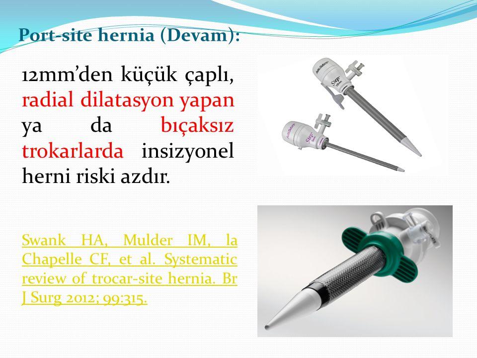 Port-site hernia (Devam):