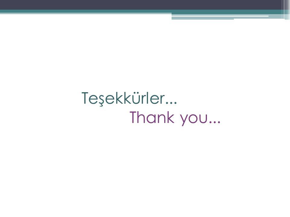 Teşekkürler... Thank you...