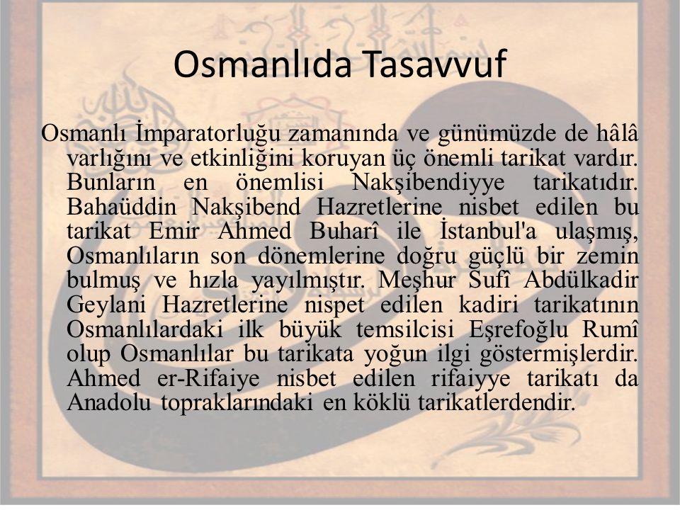 Osmanlıda Tasavvuf