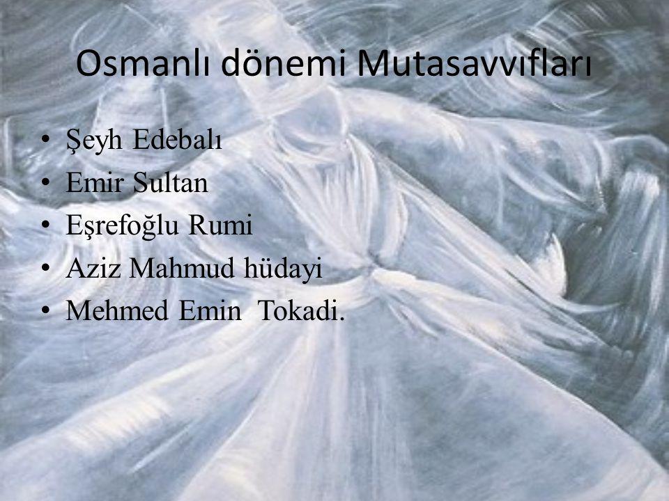 Osmanlı dönemi Mutasavvıfları
