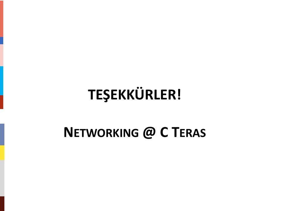 TEŞEKKÜRLER! Networking @ C Teras