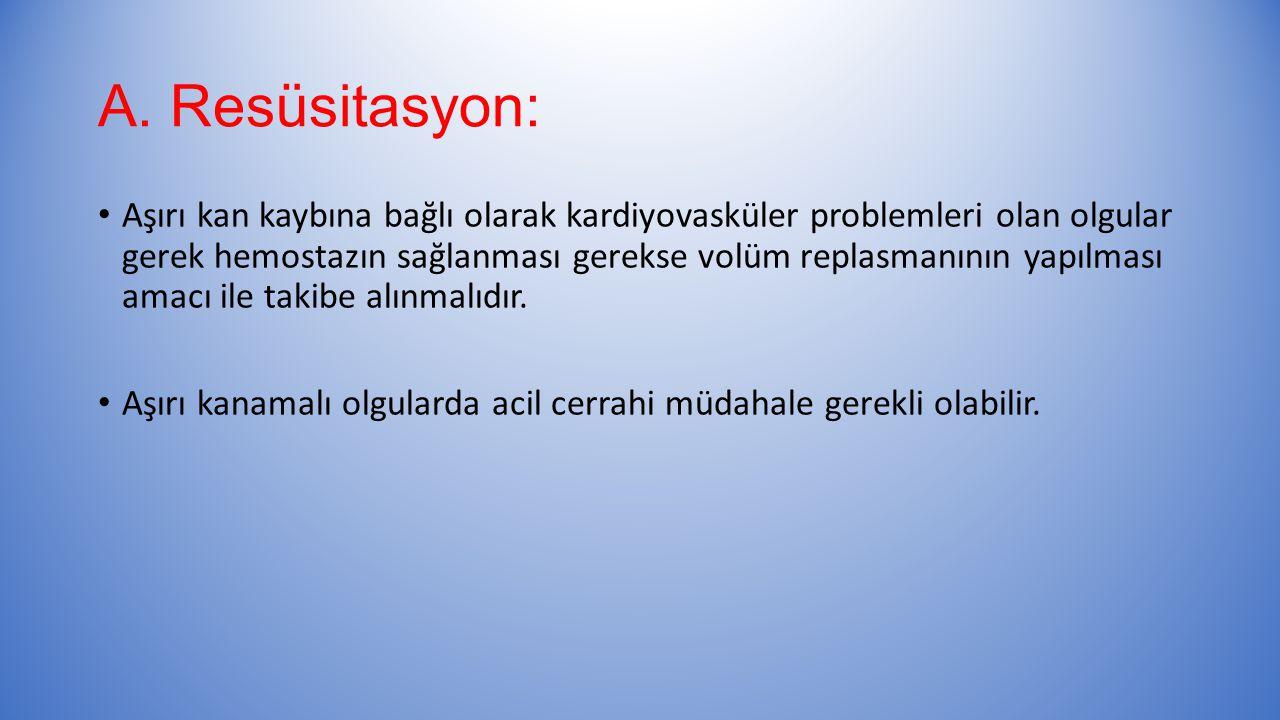 A. Resüsitasyon: