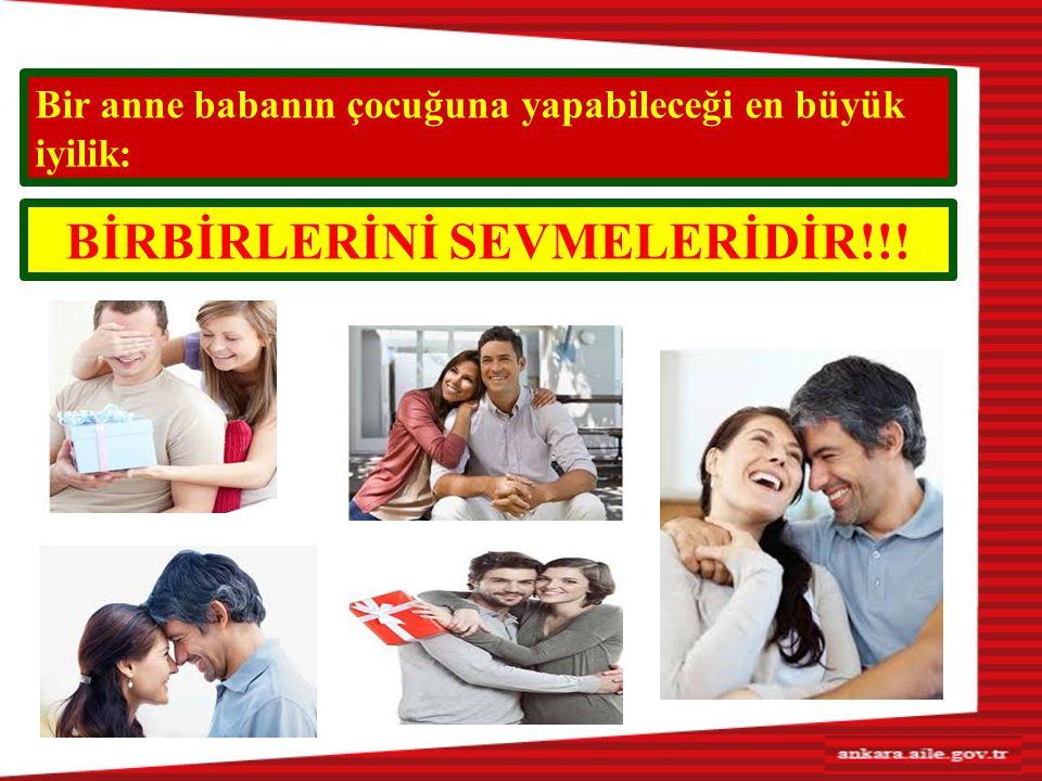 BİRBİRLERİNİ SEVMELERİDİR!!!
