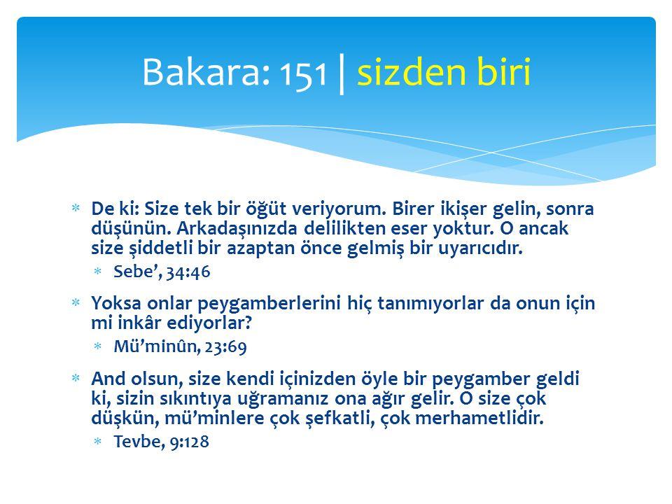 Bakara: 151 | sizden biri