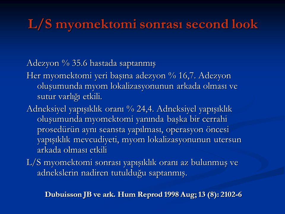 L/S myomektomi sonrası second look